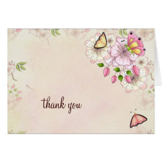 LGC Garden Baby Shower Thank you Note Card