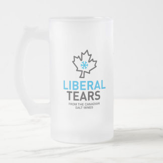 Liberal Tears Salt Mines Canada Funny Federalist Frosted Glass Beer Mug