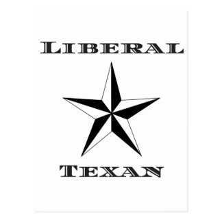 Liberal Texan Black and White Postcard