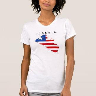 liberia country flag map shape symbol T-Shirt