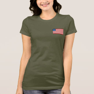 Liberia Flag and Map dk T-Shirt