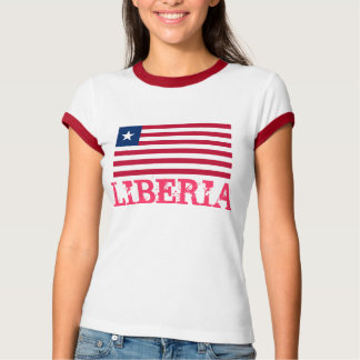 LIBERIA* Flag T-shirt for Ladies