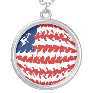 Liberia Gnarly Flag Custom Jewelry
