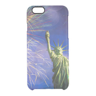 Liberty and Fireworks Clear iPhone 6/6S Case
