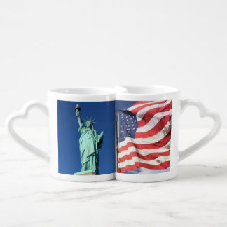 Liberty and Flag Coffee Mug Set