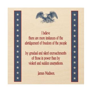 liberty eagle rustic wall plaque - madison wood print