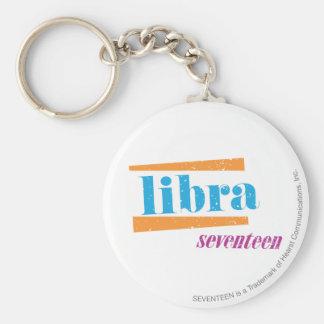 Libra Aqua Key Ring
