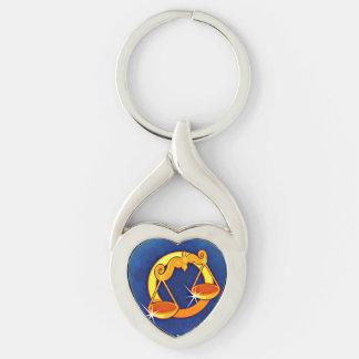 Libra Astrological Zodiac Sign Key Ring