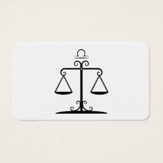 libra balanced scales astrology zodiac business card