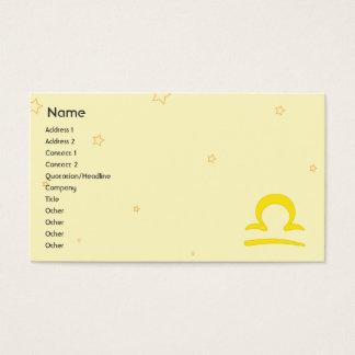 Libra - Business Business Card