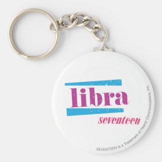 Libra Purple Key Ring