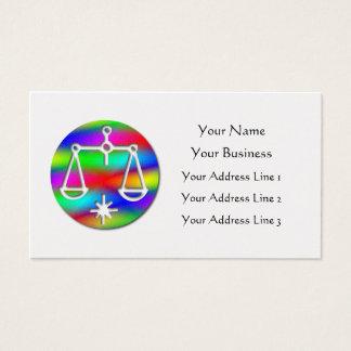 Libra Rainbow Scales Zodiac Star Sign Business Card