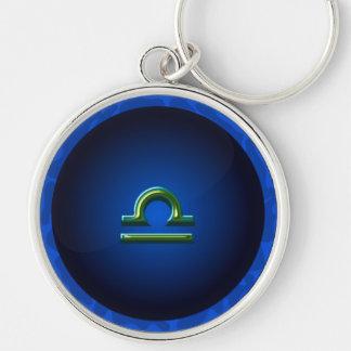 Libra Symbol Design (in 2 shapes & sizes) Key Ring