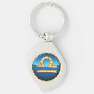 Libra Symbol Key Ring