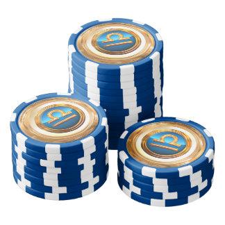 Libra Symbol Poker Chips