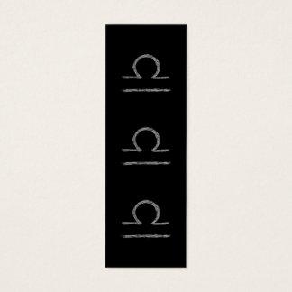 Libra. Zodiac Astrological Sign. Mini Business Card