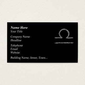 Libra. Zodiac Astrology Sign. Black. Business Card