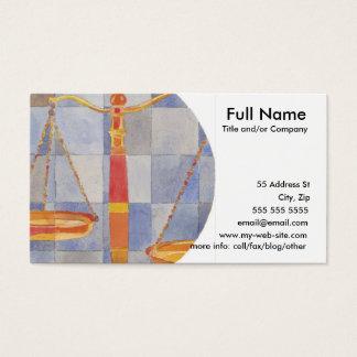 Libra Zodiac Business Card