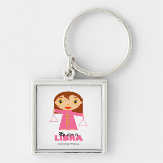 Libra Zodiac for Kids Key Ring