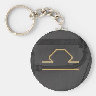 Libra Zodiac Sign | Custom Background Key Ring