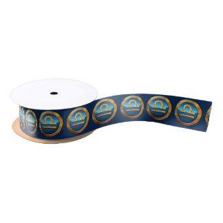 Libra Zodiac Sign Satin Ribbon