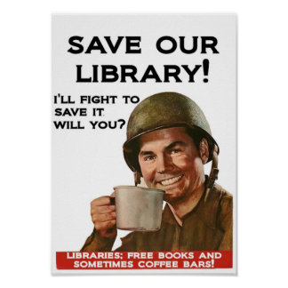 Libraries and coffee bars poster