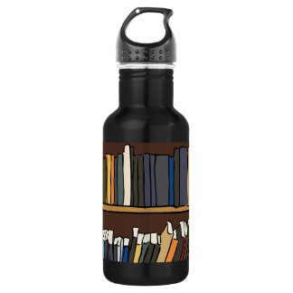 Library Books 532 Ml Water Bottle