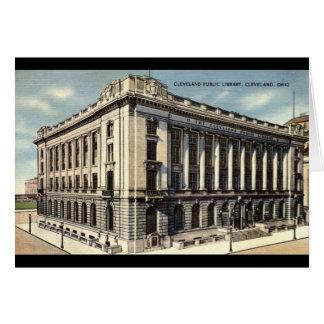 Library, Cleveland, Ohio c1934 Card