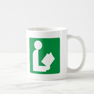 Library Highway Sign Coffee Mug