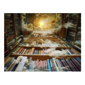 Library In the Sky Postcard