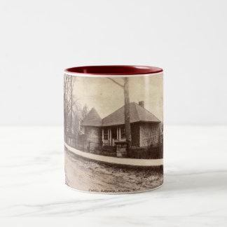 Library, Nutley, NJ 1913 Vintage Two-Tone Coffee Mug