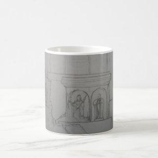 Library of Azarand - Statues Coffee Mug