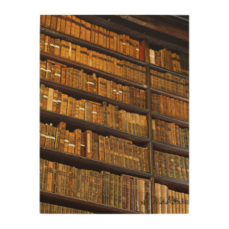 Library Wall Wood Print