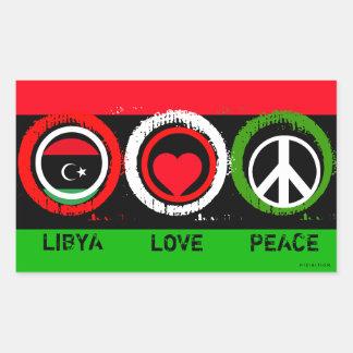 Libya Love Peace Sticker