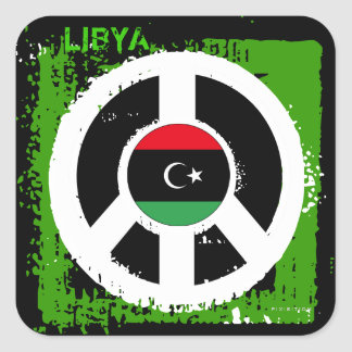 Libya Peace Sticker Square