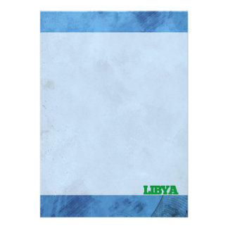 Libyan name and flag on cool wall 13 cm x 18 cm invitation card
