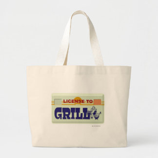 License To Grill Large Tote Bag