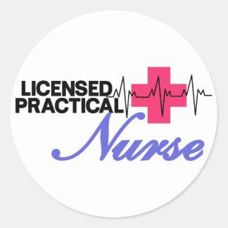 Licensed Practical Nurse Round Sticker