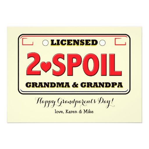 Licensed To Spoil Grandparents Day Card