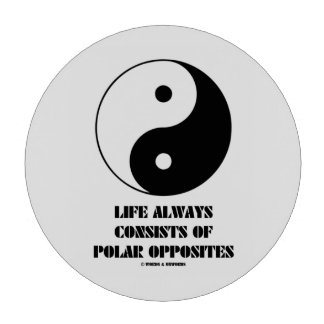 Life Always Consists Of Polar Opposites Yin-Yang Poker Chips