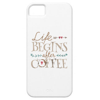 Life Begins After Coffee Barely There iPhone 5 Case
