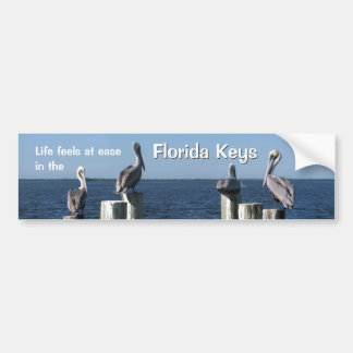 Life feels at ease in the Florida Keys Bumper Stickers