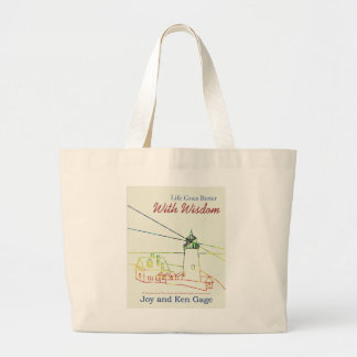 Life Goes Better With Wisdom Jumbo Tote Bag