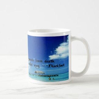 Life goes on basic white mug
