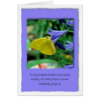 Life goes on in the face of cancer greeting card