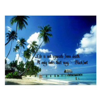 Life goes on postcard