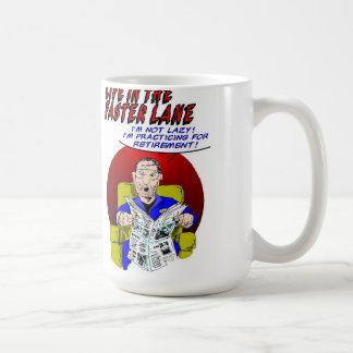 Life In The Faster Lane - Retirement Practice Basic White Mug