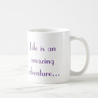 Life is an amazing adventure coffee mug