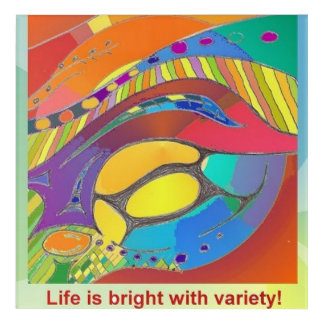 Life is Bright with Variety Wall Art Mutlicolour