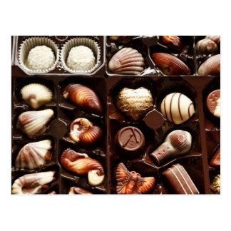 Life is like a box of chocolates sweet dessert postcard